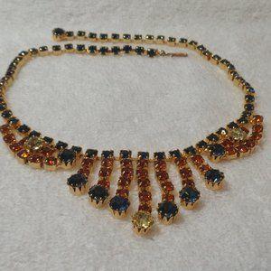Gorgeous Dangling Rhinestone Necklace